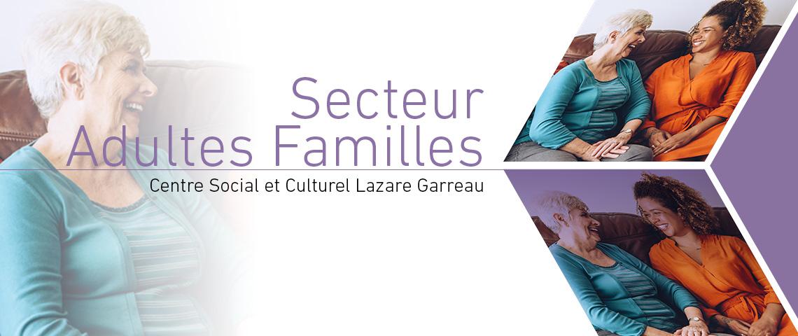 Programme 2018, Secteur Adultes Familles, Centre Social et Culturel Lazare Garreau, Lille Sud