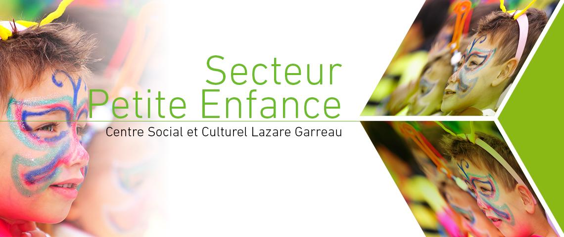 Programme 2018, Secteur Petite Enfance, Centre Social et Culturel Lazare Garreau, Lille Sud