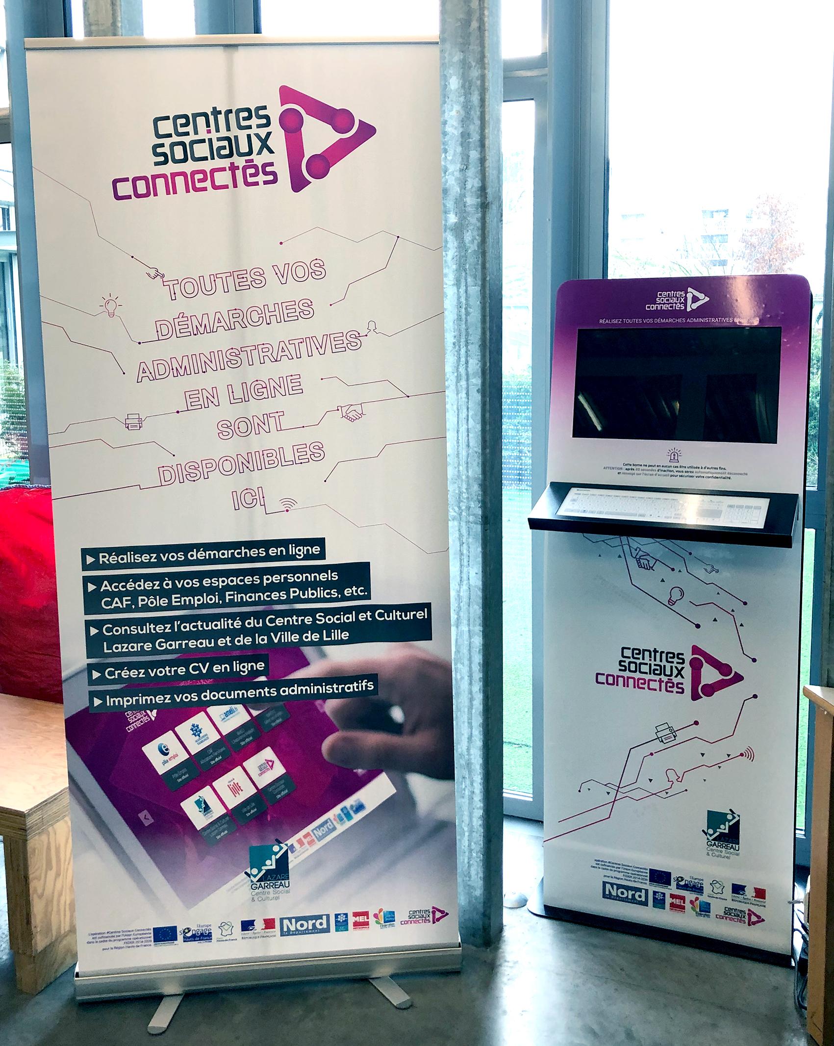 La borne numérique interactive du Centre Social et Culturel Lazare Garreau